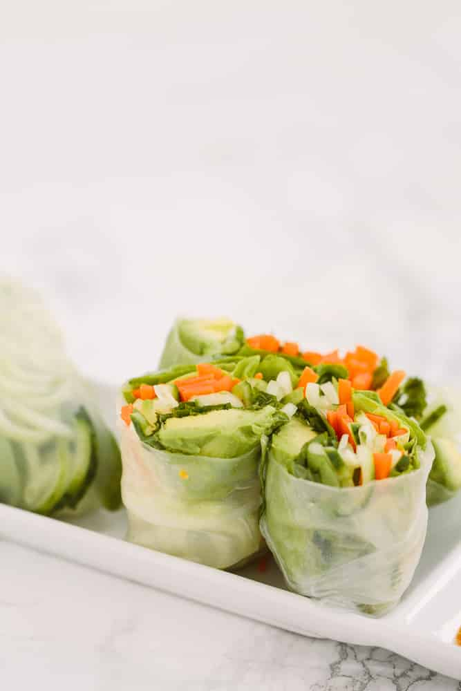 Vegan Spiralized Summer Spring Rolls