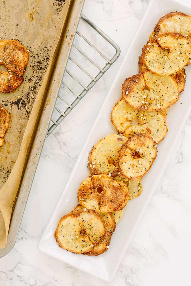 Spiralized potato chips