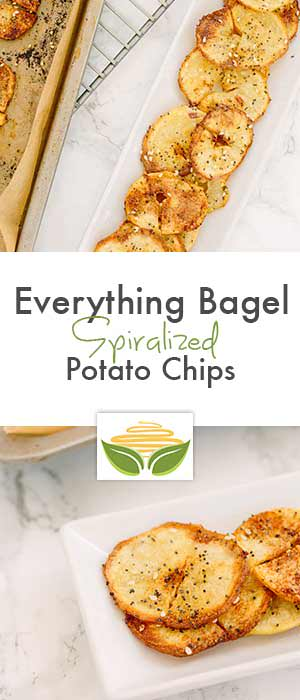 Everything Bagel Spiralized Potato Chips
