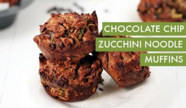 #EverydayInspiralized: Chocolate Chip Zucchini Noodle Muffins