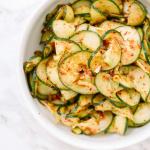 Spiralized Cucumber Kimchi