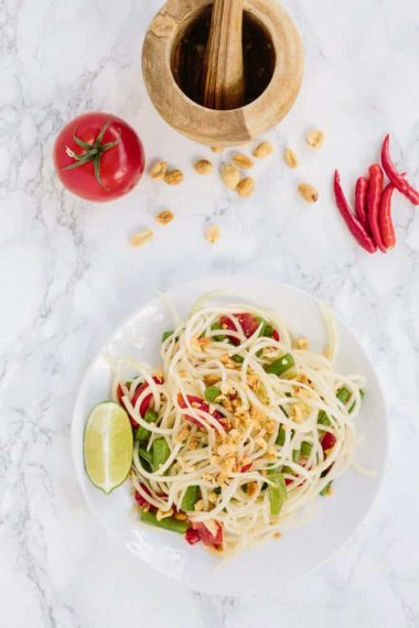 Spiralized Som Tam (Thai Papaya Salad)