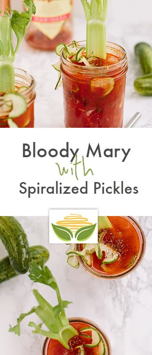 Bloody Mary with Spiralized Pickles
