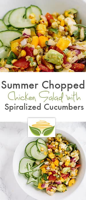 Summer Chopped Chicken Salad with Spiralized Cucumber