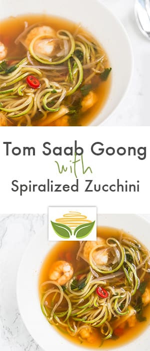 Tom Saab Goong with Spiralized Zucchini