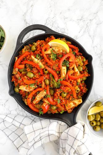 Vegan Spiralized Paella