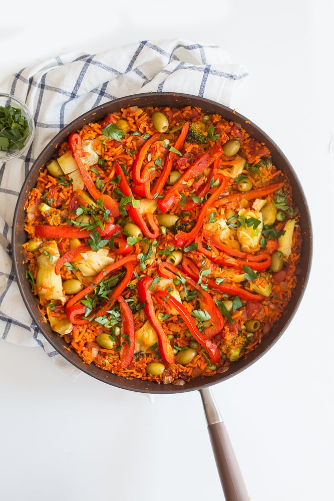 Vegan Spiralized Paella