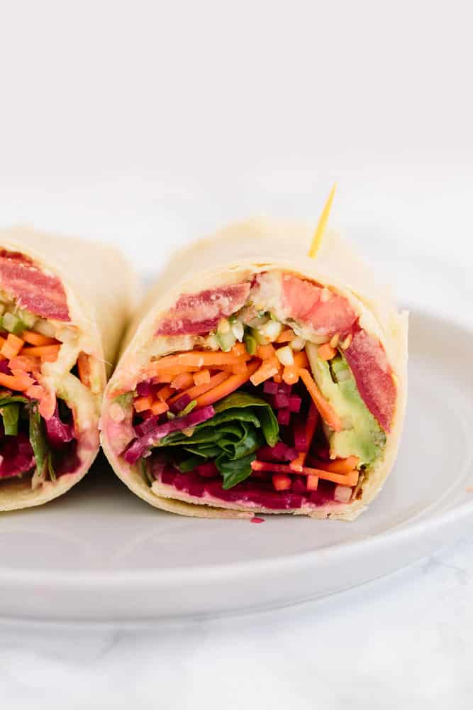 The Ultimate Spiralized Vegetable Wrap