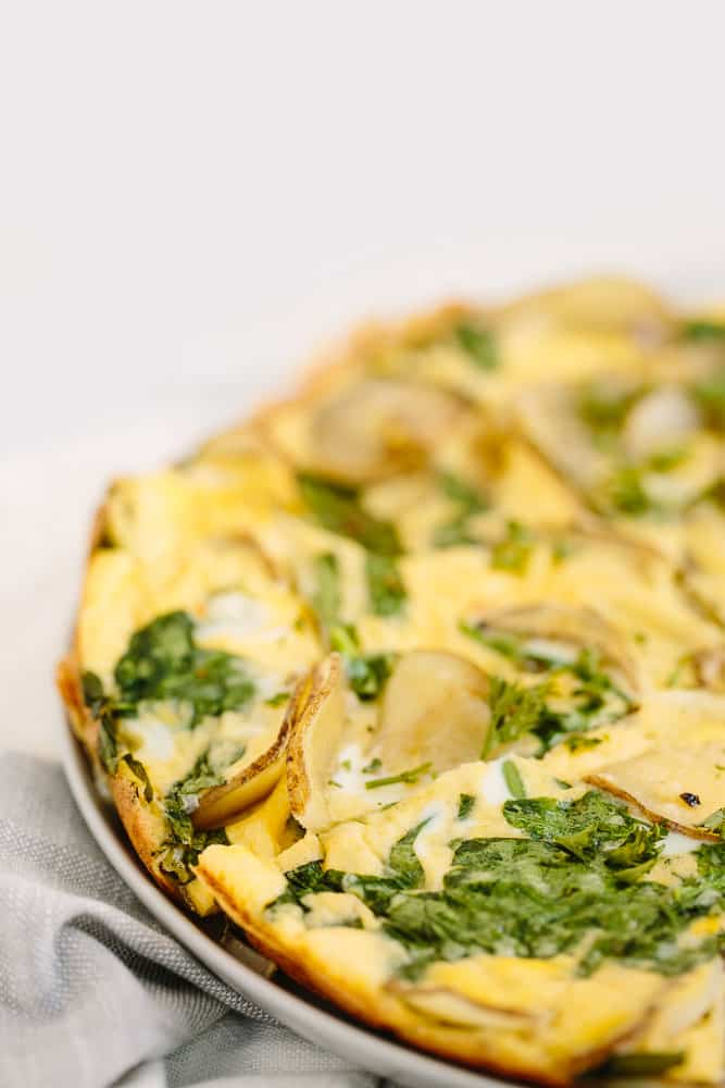 Spiralized Potato and Spinach Frittata