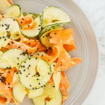 Ginger Tahini Cucumber Noodle and Carrot Salad