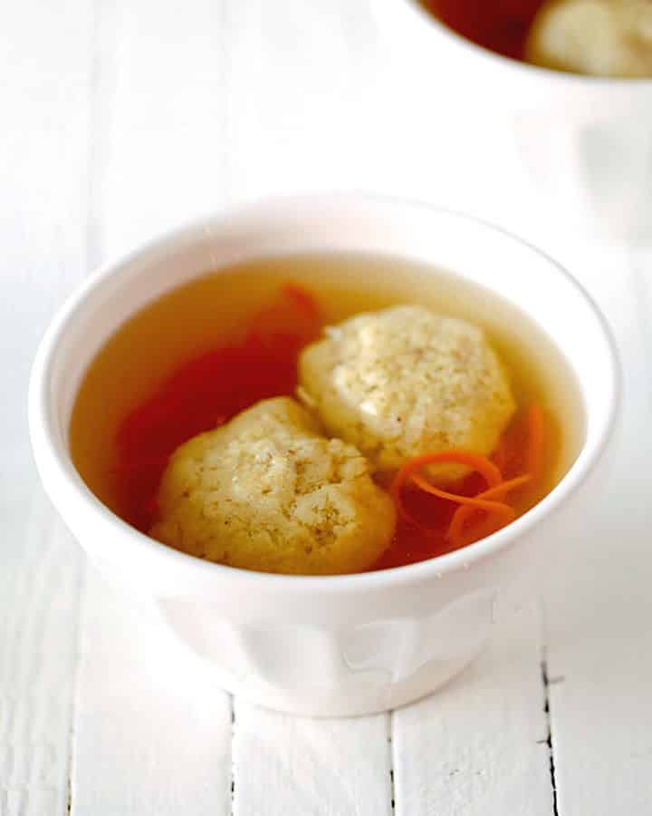 Healthified Matzo Ball Soup