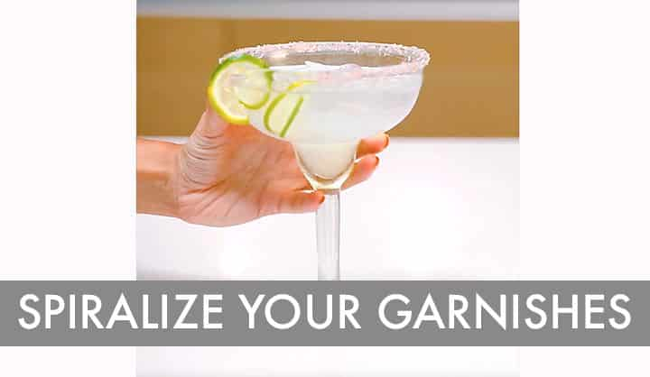 Spiralizer Hack: Spiralized Cocktail Garnishes