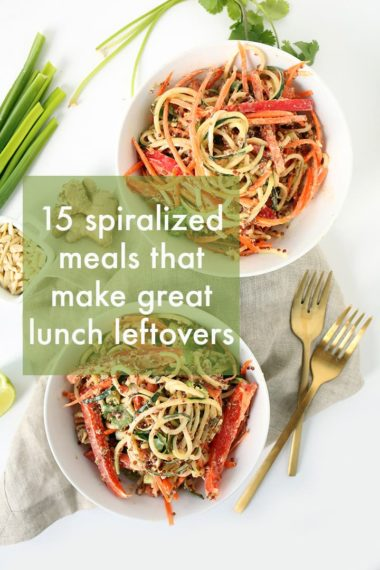 15 Spiralized Meals That Make Great Lunch Leftovers