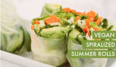#EverydayInspiralized: Spiralized Vegan Summer Rolls