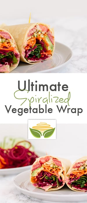 Ultimate Spiralized Vegetable Wrap