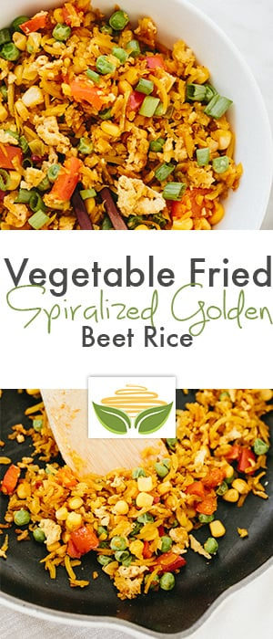 Vegetable Fried Spiralized Golden Beet Rice