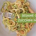 Sesame Chicken Zucchini Noodles (video)