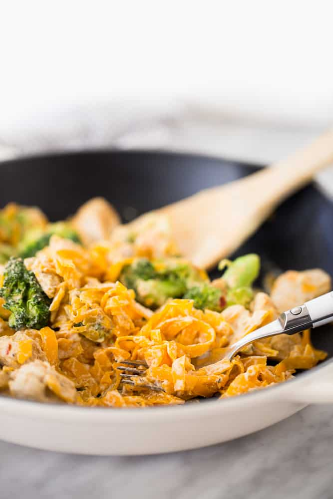 Chicken and Broccoli Butternut Squash Pasta