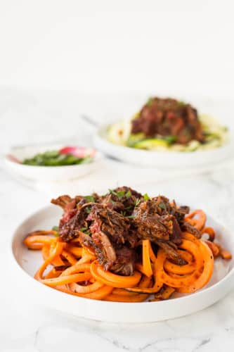 Short Rib Ragu with Sweet Potato Noodles