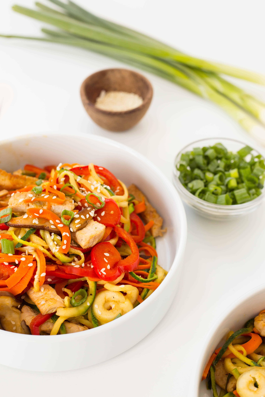 Pork Lo Mein with Zucchini Noodles