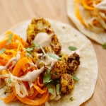 Cauliflower Shawarma Tacos with Spiralized Butternut Squash