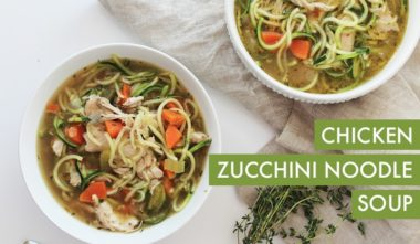 Gluten-Free Chicken Zucchini Noodle Soup (video)