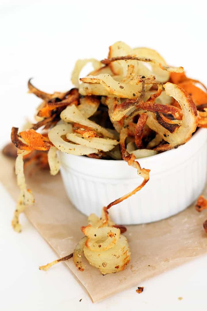 Garlic Asiago Baked Spiralized Fries