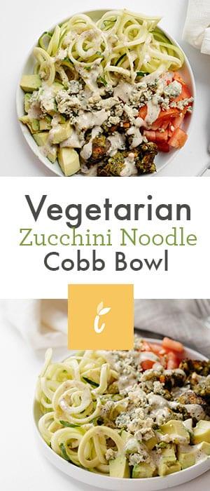 vegetarian zucchini noodle cobb bowl