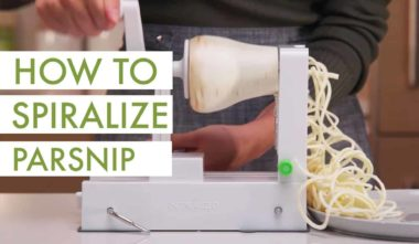 How to Spiralize Parsnip (video)