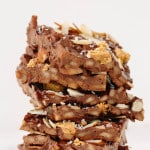 Vegan Spiralized Apple Bark with Almond Butter, Coconut and Sea Salt
