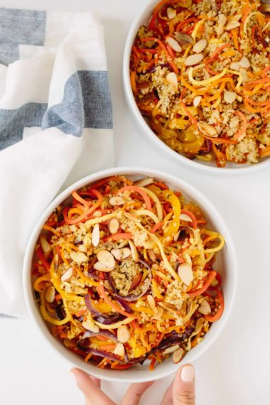 Roasted Spiralized Vegetable and Quinoa Bowl