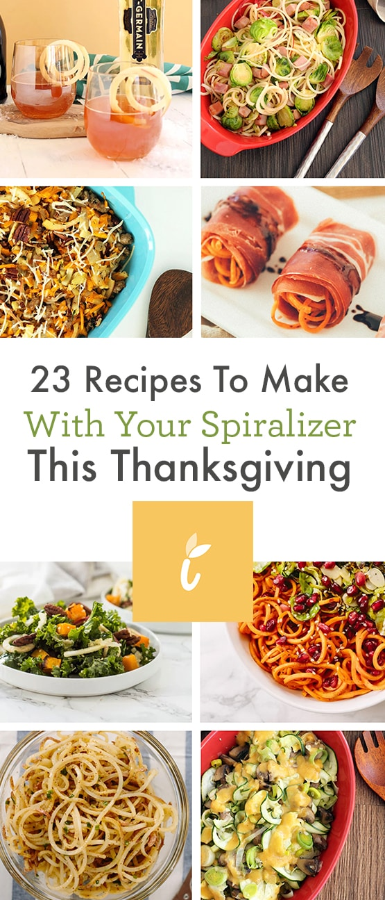 23 Recipes to Make With your Spiralizer This Thanksgiving