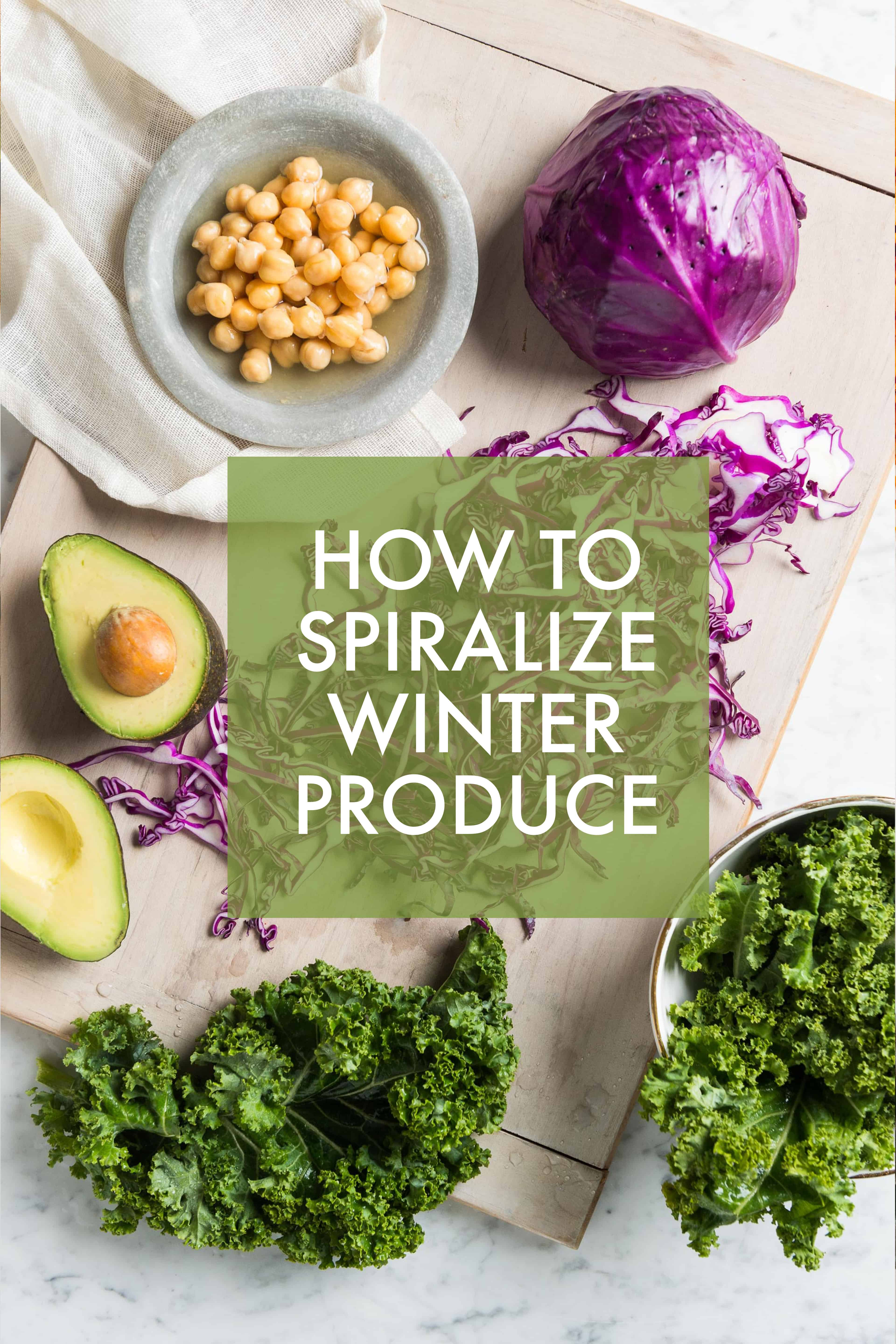 How to Spiralize Winter Produce