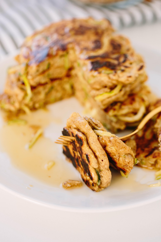 Zucchini Noodle Bread Pancakes