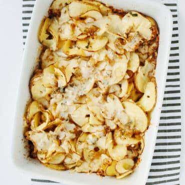 Spiralized Potato Thyme Casserole