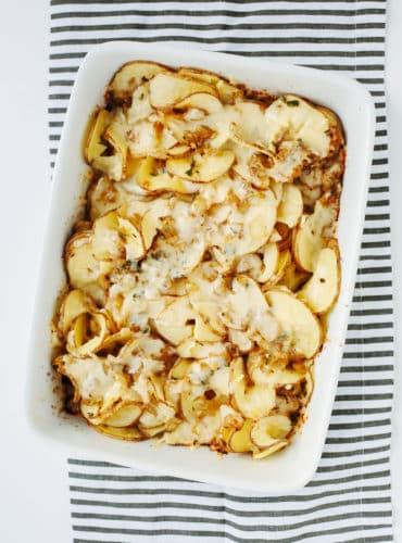 Spiralized Potato Thyme Casserole