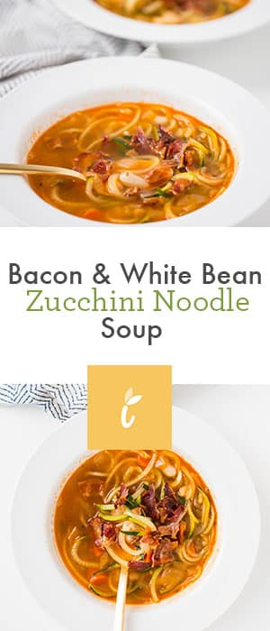 Bacon and White Bean Zucchini Noodle Soup | Inspiralized