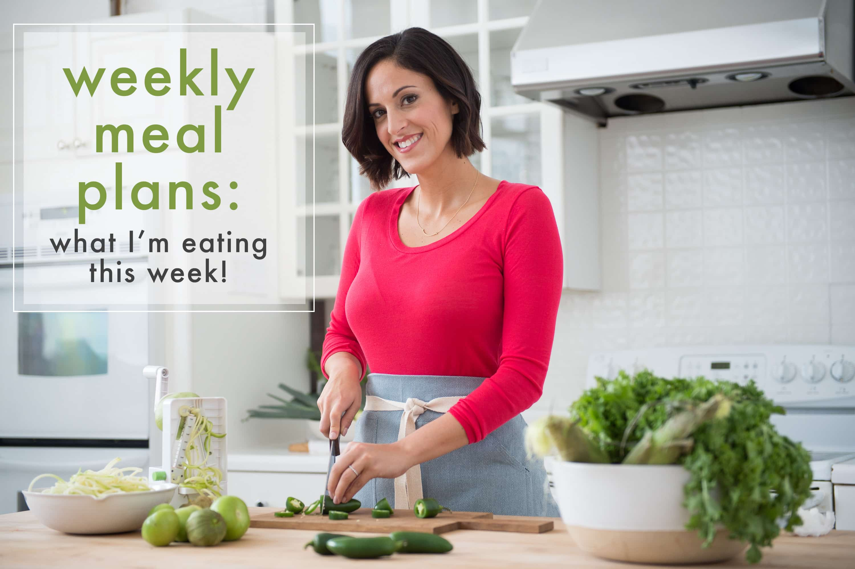 Weekly Spiralizer Meal Plans