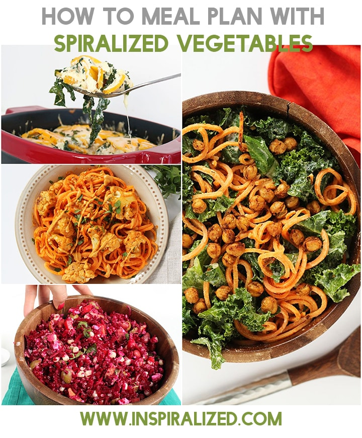 How to Meal Plan with Spiralized Vegetables Inspiralized.com