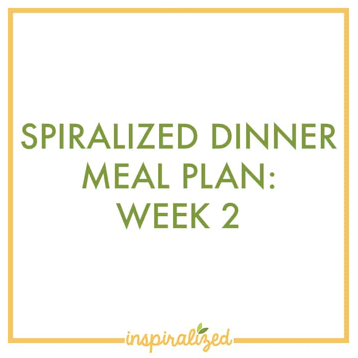 Spiralized Meal Plan 2