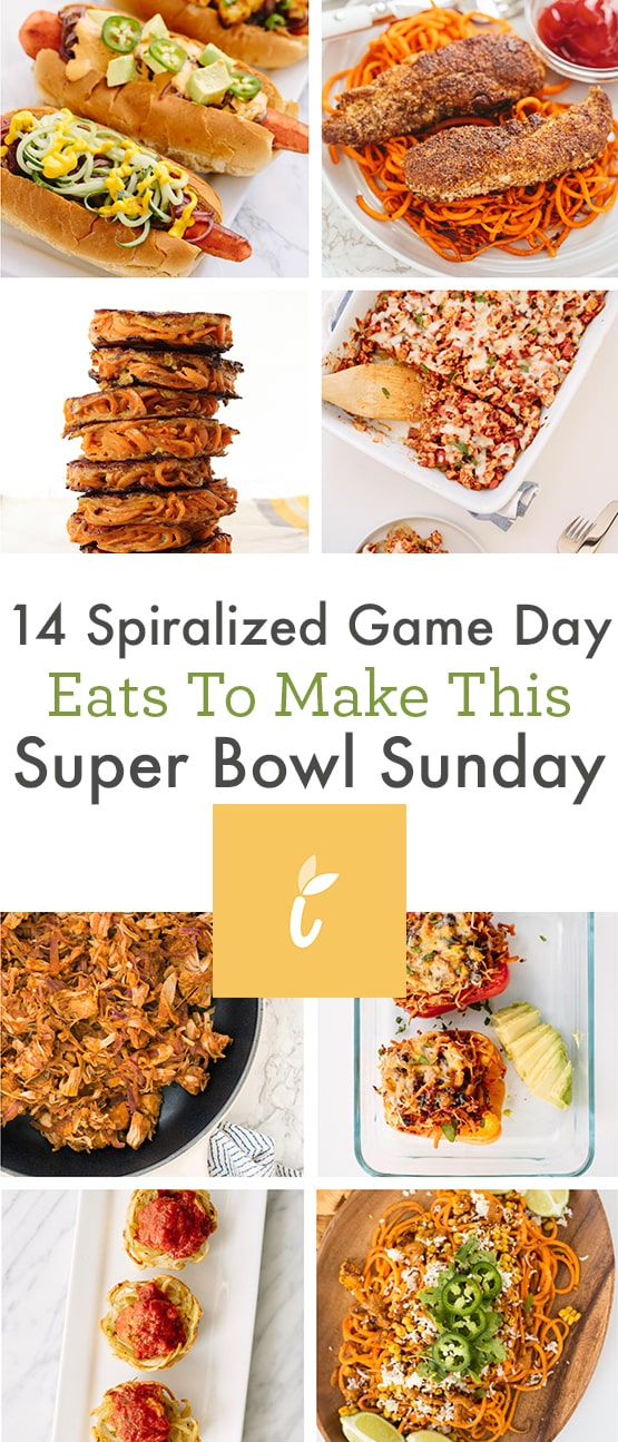 14 Spiralized Game Day Eats to Make This Super Bowl Sunday