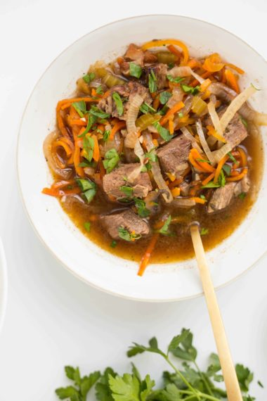 Slow-Cooker Boeuf Bourguignon with Spiralized Vegetables