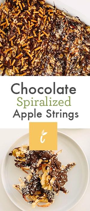 Chocolate Spiralized Apple Strings