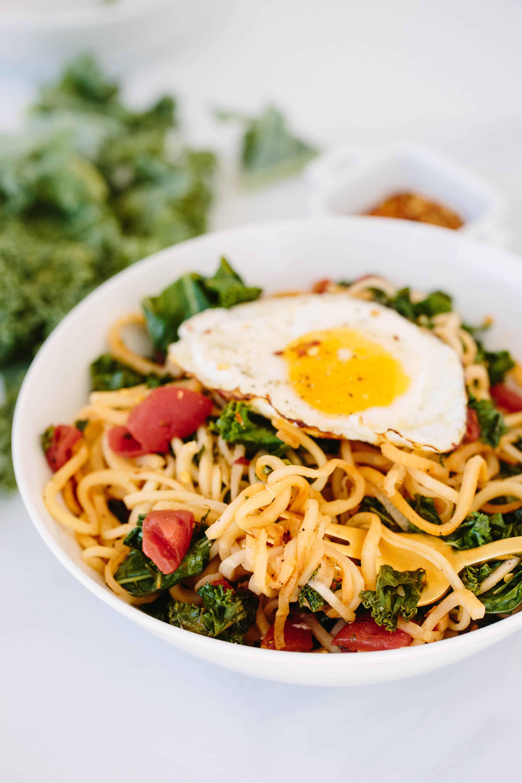 Spiralized Parsnip Breakfast Bowl