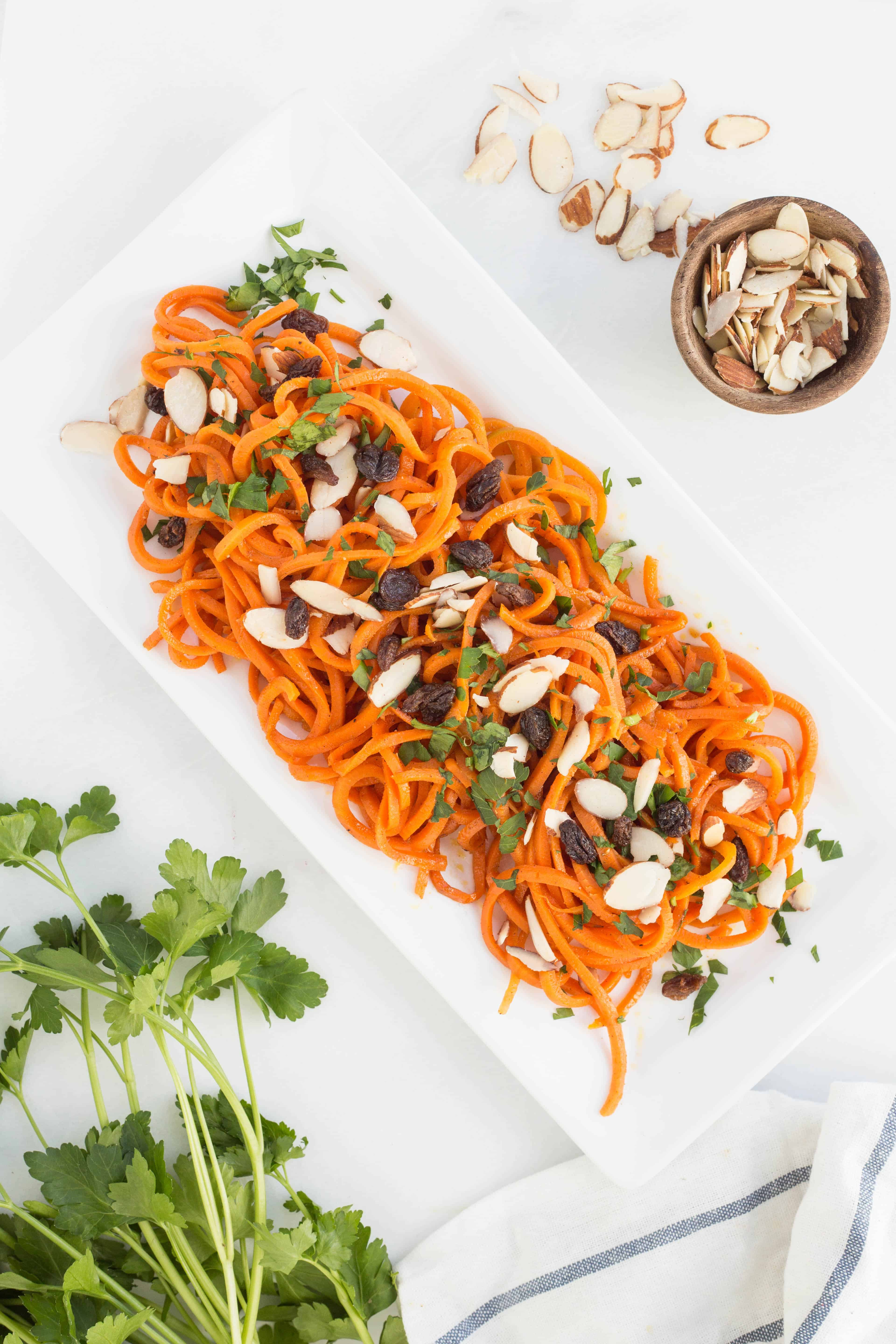 Moroccan Spiralized Carrots