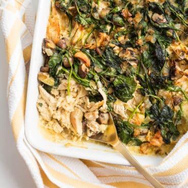 Paleo Chicken and Celeriac Rice Casserole