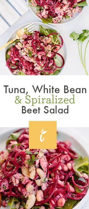 Tuna, White Bean & Spiralized Beet Salad