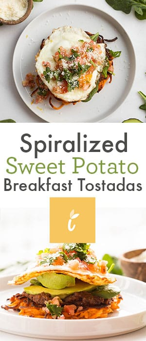 Spiralized Sweet Potato Breakfast Tostadas