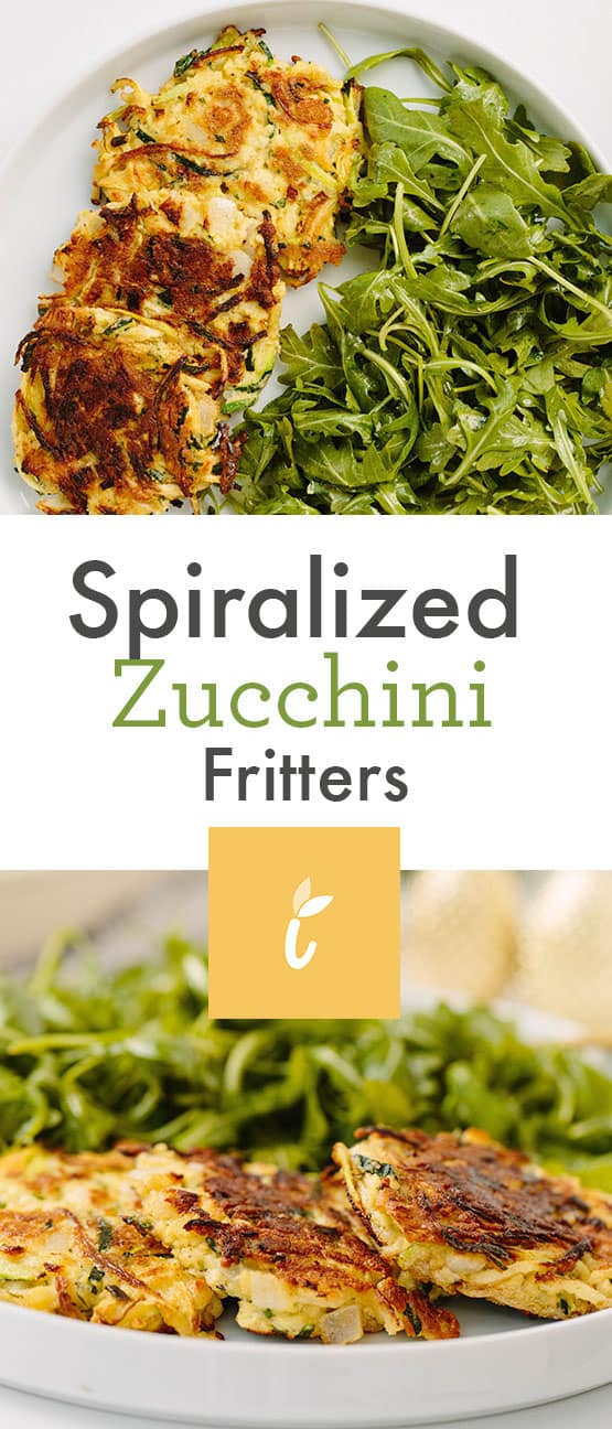 Spiralized Zucchini Fritters