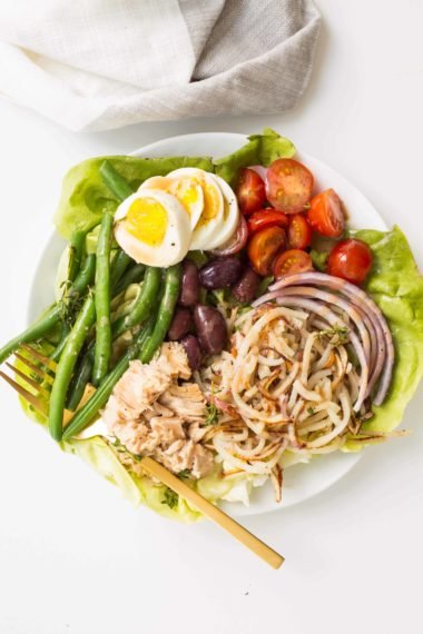 Salad Nicoise with Spiralized Red Potatoes